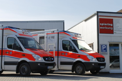 Rettungswagen Krankenwagen Beschriftung Malteser Bramsche